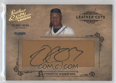 2004 Donruss Leather & Lumber Leather Cuts Glove #LC-12 - Delmon Young /192