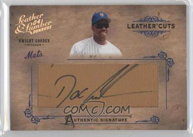 2004 Donruss Leather & Lumber Leather Cuts Glove #LC-15 - Dwight Gooden /224