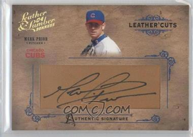 2004 Donruss Leather & Lumber Leather Cuts Glove #LC-26 - Mark Prior /160