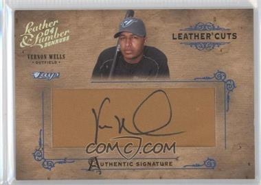 2004 Donruss Leather & Lumber Leather Cuts Glove #LC-39 - Vernon Wells /160