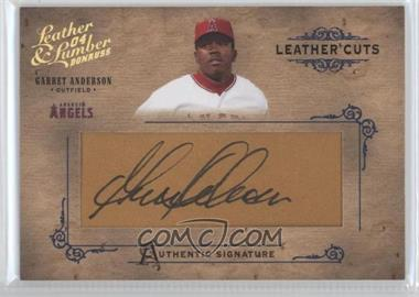 2004 Donruss Leather & Lumber Leather Cuts Golve #LC-18 - Garret Anderson /224