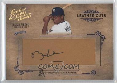 2004 Donruss Leather & Lumber Leather Cuts Golve #LC-33 - Rickie Weeks /224