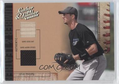 2004 Donruss Leather & Lumber Lumber & Leather Bat/Spikes #LUL-25 - Josh Phelps