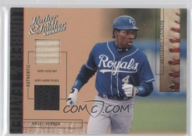 2004 Donruss Leather & Lumber Lumber & Leather Bat/Spikes #LUL-3 - Angel Berroa /25