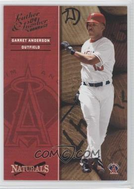 2004 Donruss Leather & Lumber Naturals #N-2 - Garret Anderson /2499