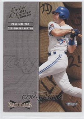 2004 Donruss Leather & Lumber Naturals #N-4 - Paul Molitor /2499