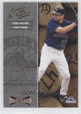 2004 Donruss Leather & Lumber Naturals #N-7 - Todd Helton /2499
