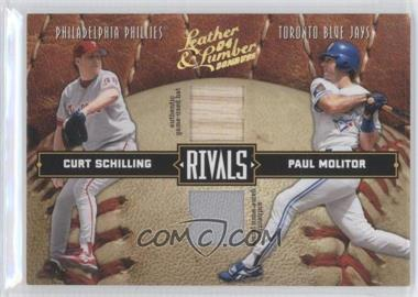 2004 Donruss Leather & Lumber Rivals Materials [Memorabilia] #LLR-38 - Curt Schilling, Paul Molitor /250