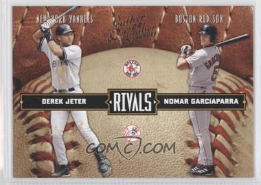 2004 Donruss Leather & Lumber Rivals #LLR-1 - Derek Jeter, Nomar Garciaparra /2499
