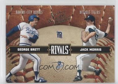 2004 Donruss Leather & Lumber Rivals #LLR-10 - George Brett, Jack Morris /2499