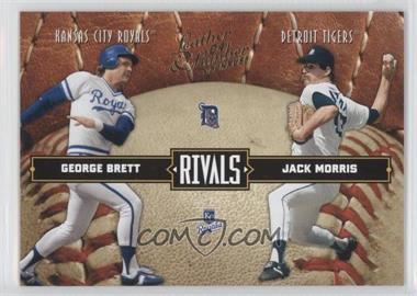 2004 Donruss Leather & Lumber Rivals #LLR-10 - George Brett, Jack Morris /2499