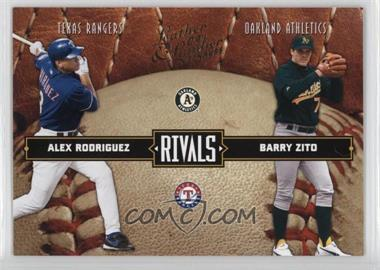 2004 Donruss Leather & Lumber Rivals #LLR-19 - Alex Rodriguez, Barry Zito /2499