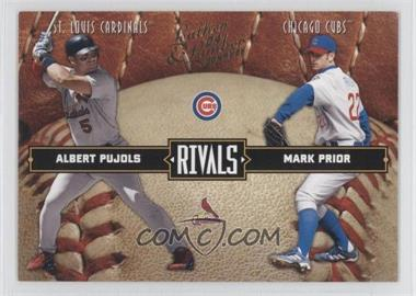 2004 Donruss Leather & Lumber Rivals #LLR-2 - Albert Pujols, Mark Prior /2499