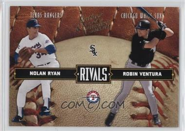 2004 Donruss Leather & Lumber Rivals #LLR-25 - Nolan Ryan, Robin Ventura /2499