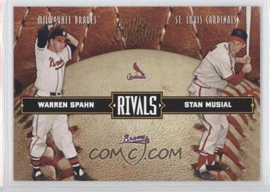 2004 Donruss Leather & Lumber Rivals #LLR-3 - Warren Spahn, Stan Musial /2499