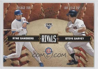 2004 Donruss Leather & Lumber Rivals #LLR-34 - Ryne Sandberg, Steve Garvey /2499