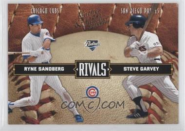 2004 Donruss Leather & Lumber Rivals #LLR-34 - Ryne Sandberg, Steve Garvey /2499