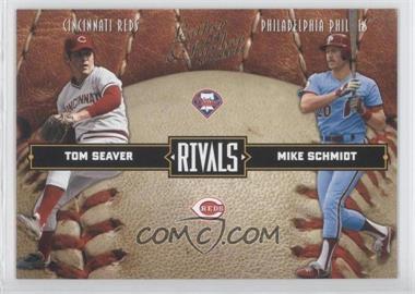 2004 Donruss Leather & Lumber Rivals #LLR-9 - Tom Seaver, Mike Schmidt /2499