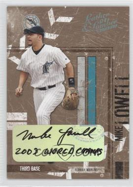 2004 Donruss Leather & Lumber Signatures Platinum [Autographed] #57 - Mike Lowell /1