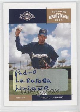 2004 Donruss Team Heroes Autographs #230 - Pedro Liriano