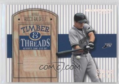 2004 Donruss Timber & Threads Studio Series #TT-37 - Rocco Baldelli /50