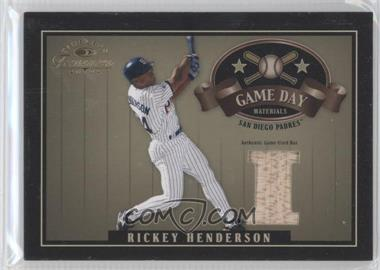 2004 Donruss Timeless Treasures - Game Day Materials #GDM-16 - Rickey Henderson /50