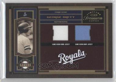 2004 Donruss Timeless Treasures Home Away Gamers #HA-15 - George Brett /100