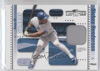 2004 Donruss Timelines Boys of Summer Materials [Memorabilia] #21 - Rickey Henderson