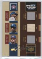 Rickey Henderson, David Wells, Joe Carter /100