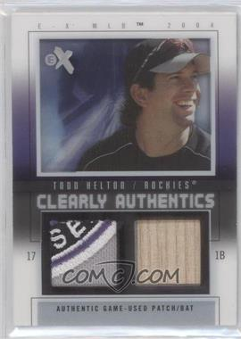 2004 EX Clearly Authentics Pewter Bat/Patch #CA-TH - Todd Helton /44
