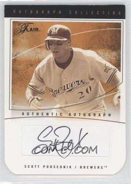 2004 Flair Autograph Collection Die-Cut #AC-SP - Scott Podsednik /84
