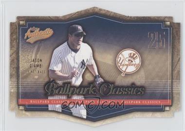 2004 Fleer Authentix - Ballpark Classics #5 BC - Jason Giambi