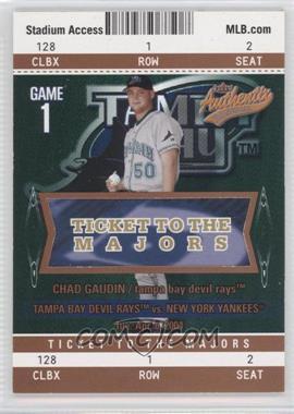 2004 Fleer Authentix - [Base] - Club Box #102 - Chad Gaudin /25