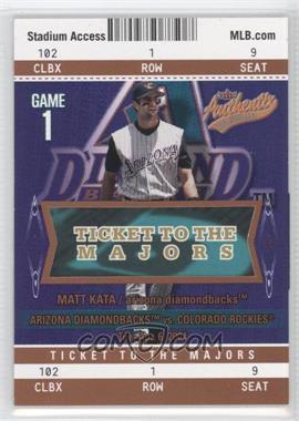 2004 Fleer Authentix - [Base] - Club Box #109 - Matt Kata /25
