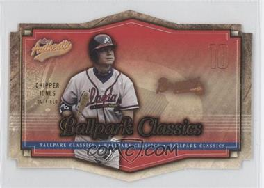 2004 Fleer Authentix [???] #3BC - Chipper Jones