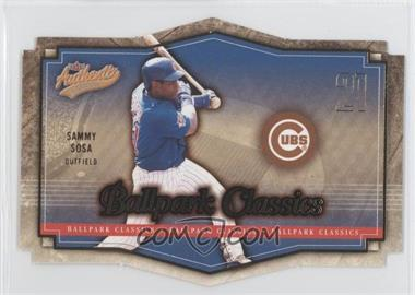 2004 Fleer Authentix [???] #7BC - Sammy Sosa