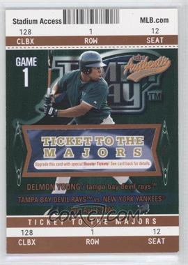 2004 Fleer Authentix Club Box #25112 - Delmon Young /25