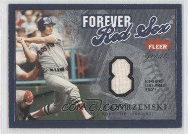 2004 Fleer Greats of the Game - Forever - Relics Uniform Number [Memorabilia] #F-CY - Carl Yastrzemski /99
