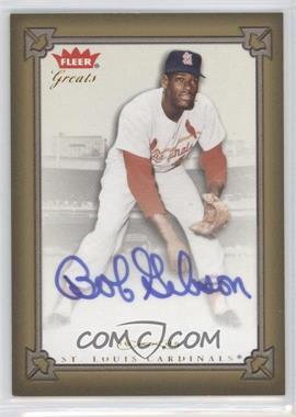 2004 Fleer Greats of the Game Autographs #GBA-BG - Bob Gibson