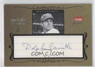 2004 Fleer Greats of the Game Etched in Time Cuts #ET-DC - Dolph Camilli /40