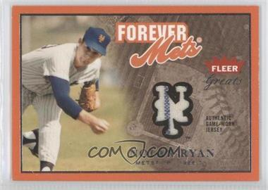 2004 Fleer Greats of the Game Forever Relics Logo [Memorabilia] #F-NR - Nolan Ryan /149