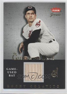 2004 Fleer Greats of the Game Glory of their Time Gold Game-Used [Memorabilia] #GOT-RC - Rocky Colavito