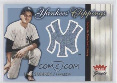 2004 Fleer Greats of the Game Yankees Clippings #YC-BS - Moose Skowron