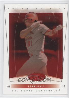 2004 Fleer Hot Prospects Draft Edition - [Base] - Red Hot #63 - John Gall /150