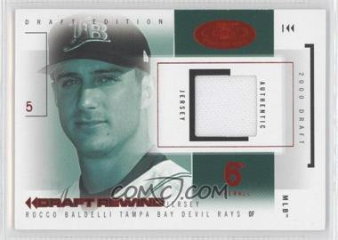2004 Fleer Hot Prospects Draft Edition Draft Rewind Jerseys Red Hot #DR/1 - Rocco Baldelli /10