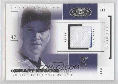 2004 Fleer Hot Prospects Draft Edition Draft Rewind Jerseys #DR/TG - Tom Glavine /147