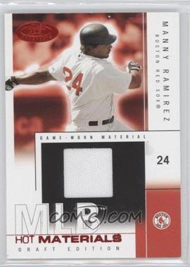 2004 Fleer Hot Prospects Draft Edition Hot Materials Red Hot #HM/MR - Manny Ramirez /50