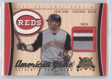 2004 Fleer National Pastime American Game Patch [Memorabilia] #AG-AD - Adam Dunn /30