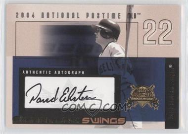 2004 Fleer National Pastime Signature Swings Gold #SSA-DE - David Eckstein /161