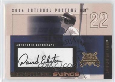2004 Fleer National Pastime Signature Swings Gold #SSA-DE - David Eckstein /161